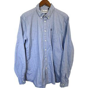 Barbour Mens Shirt Button Up Tailored Fit Large